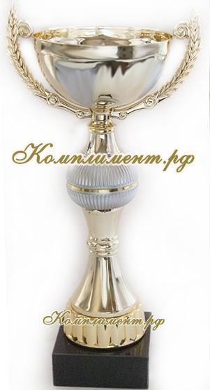Кубок - чаша (бело - золотой)