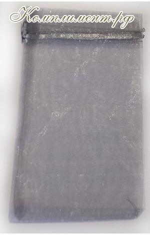 Мешочек (органза, размер 13 см*18 см, цвет - серый)