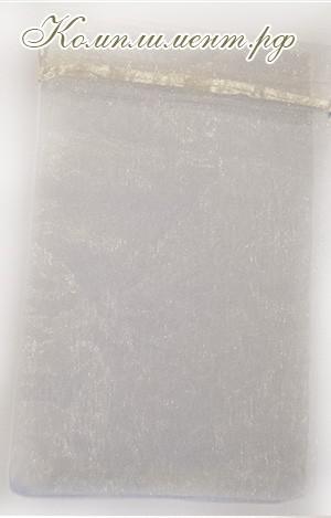 Мешочек (органза, размер 9 см*12 см, цвет - бежевый)