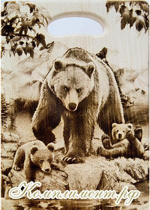 """Доска разделочная """"Медведи"""", кедр"""