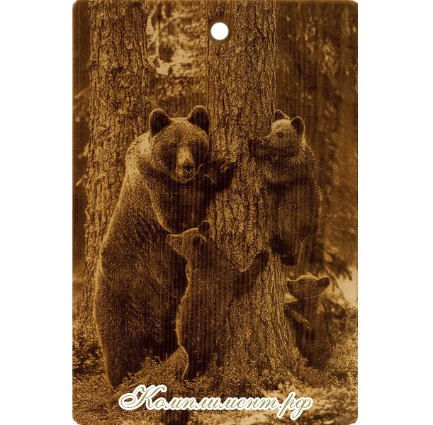 "Доска разделочная ""Медведи в лесу"""