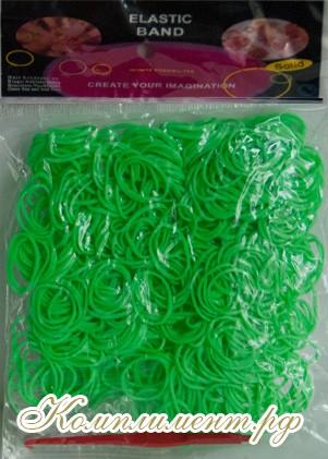 Резинки для плетения браслетов (зеленый)
