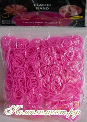 Резинки для плетения браслетов (розовые)