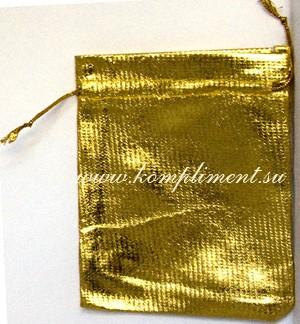 Мешочек (ткань) золото, размер 9,5 см*11 см