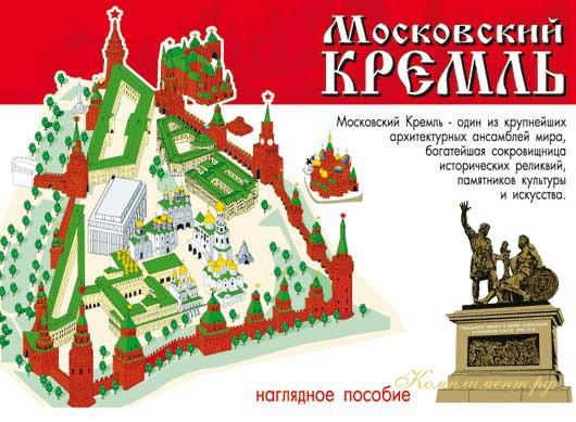 """Наглядное пособие """"Московский Кремль"""" (памятники Кремля)"""