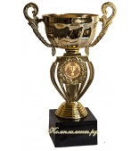 Кубок чаша (вставка 25 мм с лазерной гравировкой на заказ), 18,5 см