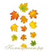 Осенние листья, 3 каскада для украшения помещения на золотом шнурке