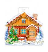Новогодний  домик (плакат вырубной)