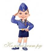 Девочка - морячка (плакат вырубной)