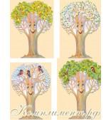"""""""Чудо - дерево"""" (яблоня, времена года, оформительский набор)"""