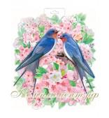 Птички в гнезде (плакат вырубной)