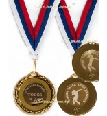 Медаль металлическая, 45 мм, на заказ, двухсторонняя