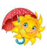 """Плакат """"Солнышко с зонтиком"""""""