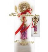 Кубок (узкая ножка малинового цвета)