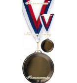 """Медаль на заказ (""""серебро"""", 63+63)"""