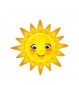 Солнышко (плакат вырубной для украшения помещения), размер А4