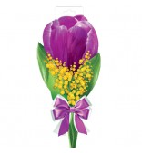 Цветок. Тюльпан с мимозой