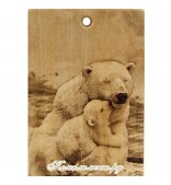 "Доска разделочная "" Белые медведи"""