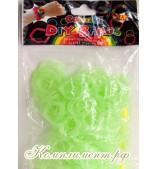 Резинки для плетения браслетов (зеленый светящийся)