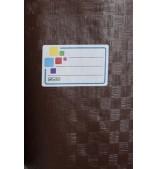 Обложка коричневая, размер 15,1*21,3 см.