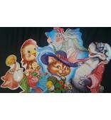 Персонажи сказок (Плакат вырубной, в ассортименте из наличия)
