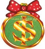 """Медаль картонная """"$""""(символ доллара)"""