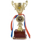 Кубок чаша (вставка 25 мм с лазерной гравировкой на заказ), 20 см