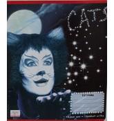 """Тетрадь """"Cats"""", 4 вида, 24 листа, клетка, Полиграфика."""