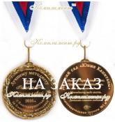 """Медаль """"Лучшему методисту с благодарностью. Выпуск 20__"""",5"""