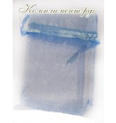 Мешочек (органза, размер 7 см*9 см, цвет - голубой)