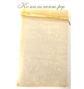 Мешочек (органза, размер 9 см*12 см, цвет - золото)