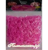 Резинки для плетения браслетов (малиновые)