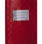 Обложка красная, размер 15,1*21,3 см.