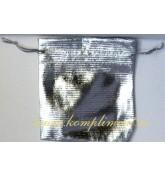 Мешочек (ткань) серебро, размер 9,5 см*11 см