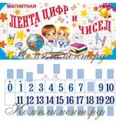 Лента цифр и чисел (с виниловыми магнитами)